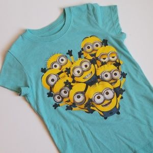 MINIONS DESPICABLE ME SMALL 6/6X BLUE TEE